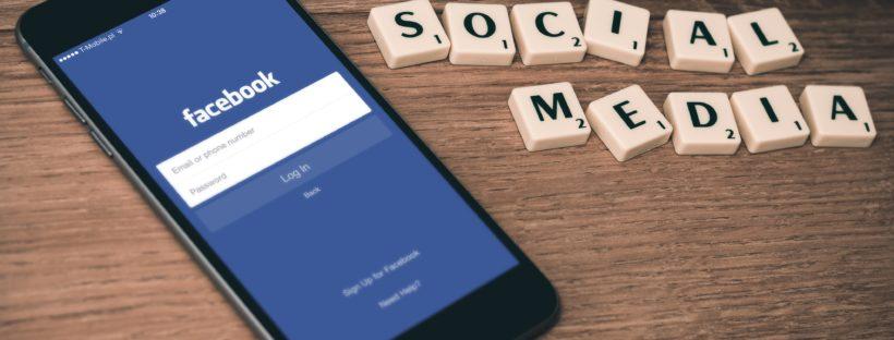 Social media facebook on mobile phone