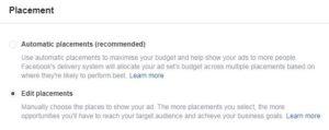 Platform facebook ads